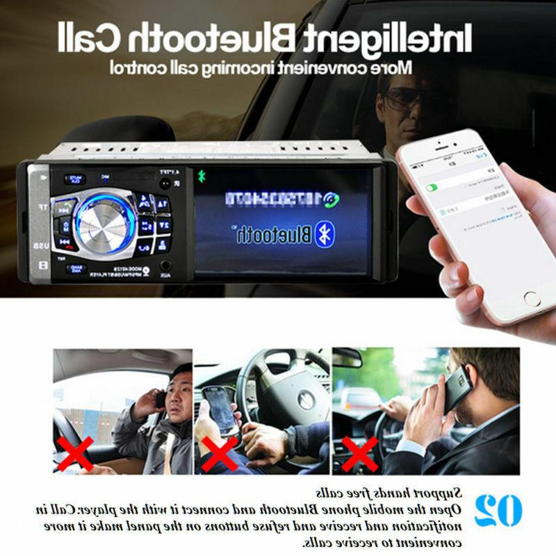 Single HD Car Stereo Player BT AUX USB Camera