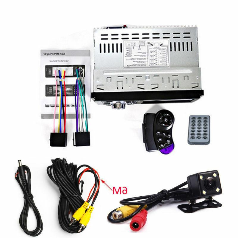 "Single 1DIN 4.1"" HD Car Stereo Player BT FM Radio AUX Camera"