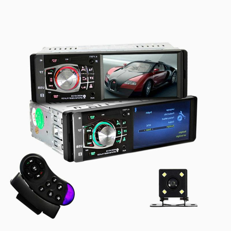 Single 1DIN Car Stereo Video MP5 AUX USB Camera