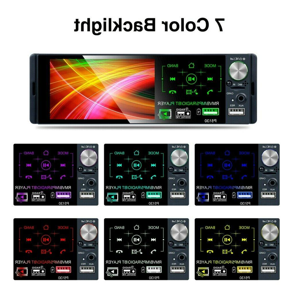 """Single 1DIN Stereo 4.1"""" TouchScreen RDS FM Bluetooth AUX USB"""