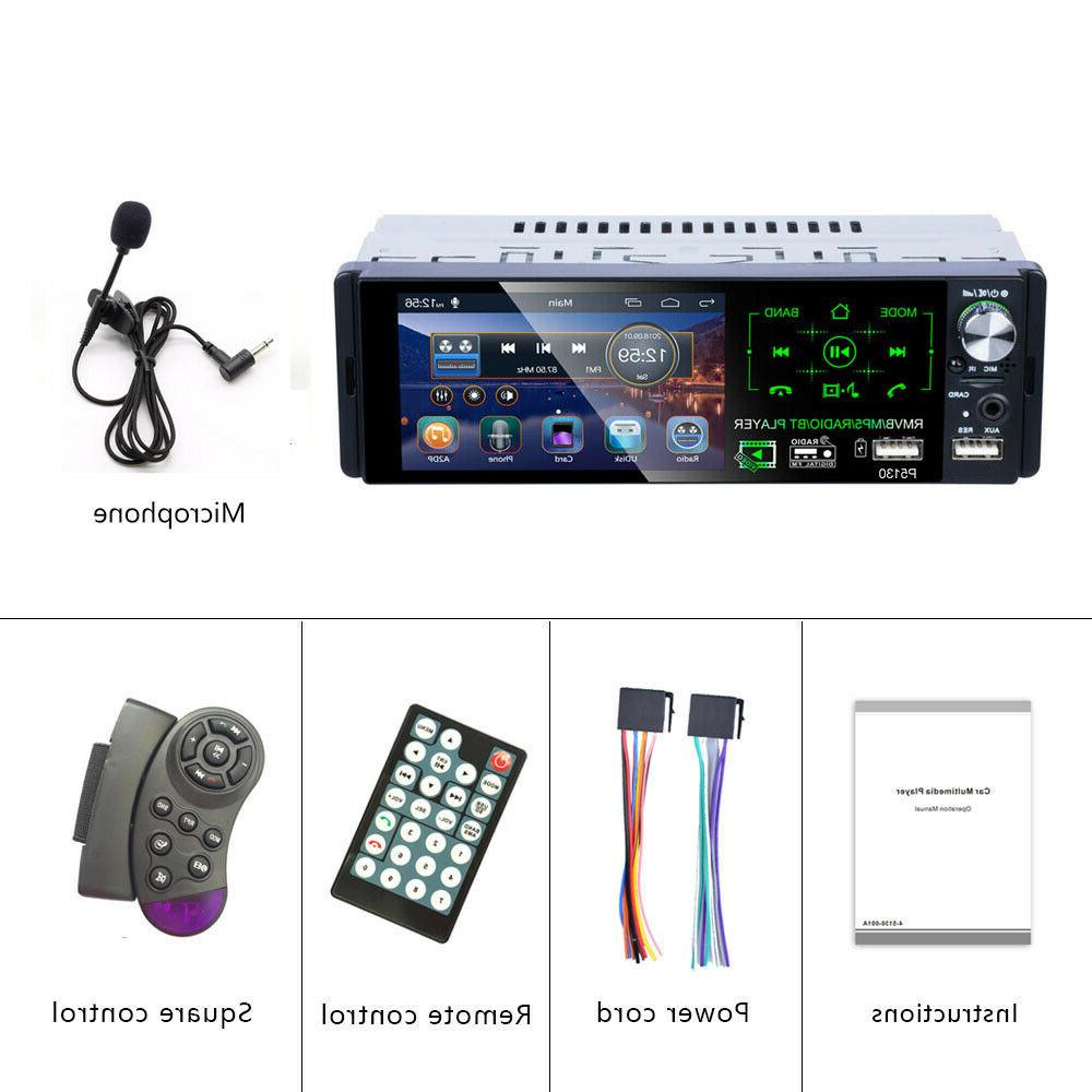 Single Car Stereo TouchScreen RDS FM AUX USB TF
