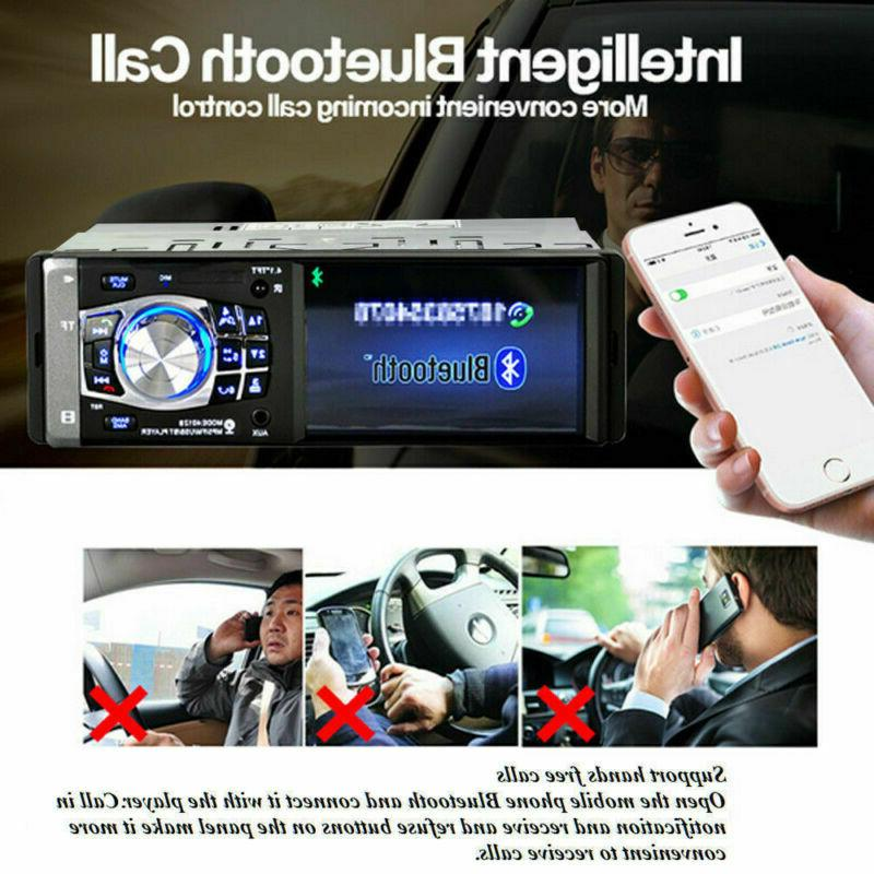 Single 1 DIN Car Video MP5 Player Bluetooth AUX SD