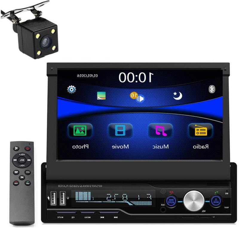 Single Din Car Stereo, 7 inch Bluetooth Car Audio Video Play
