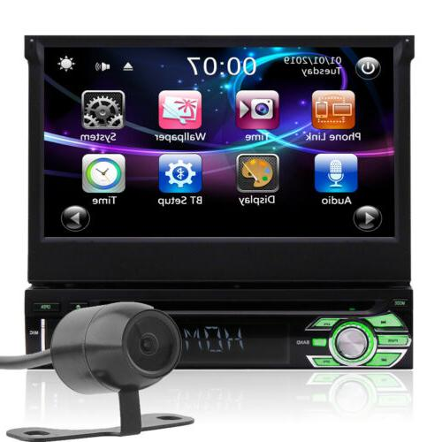 Single Din Car Stereo Radio DVD Player Bluetooth GPS Navigat