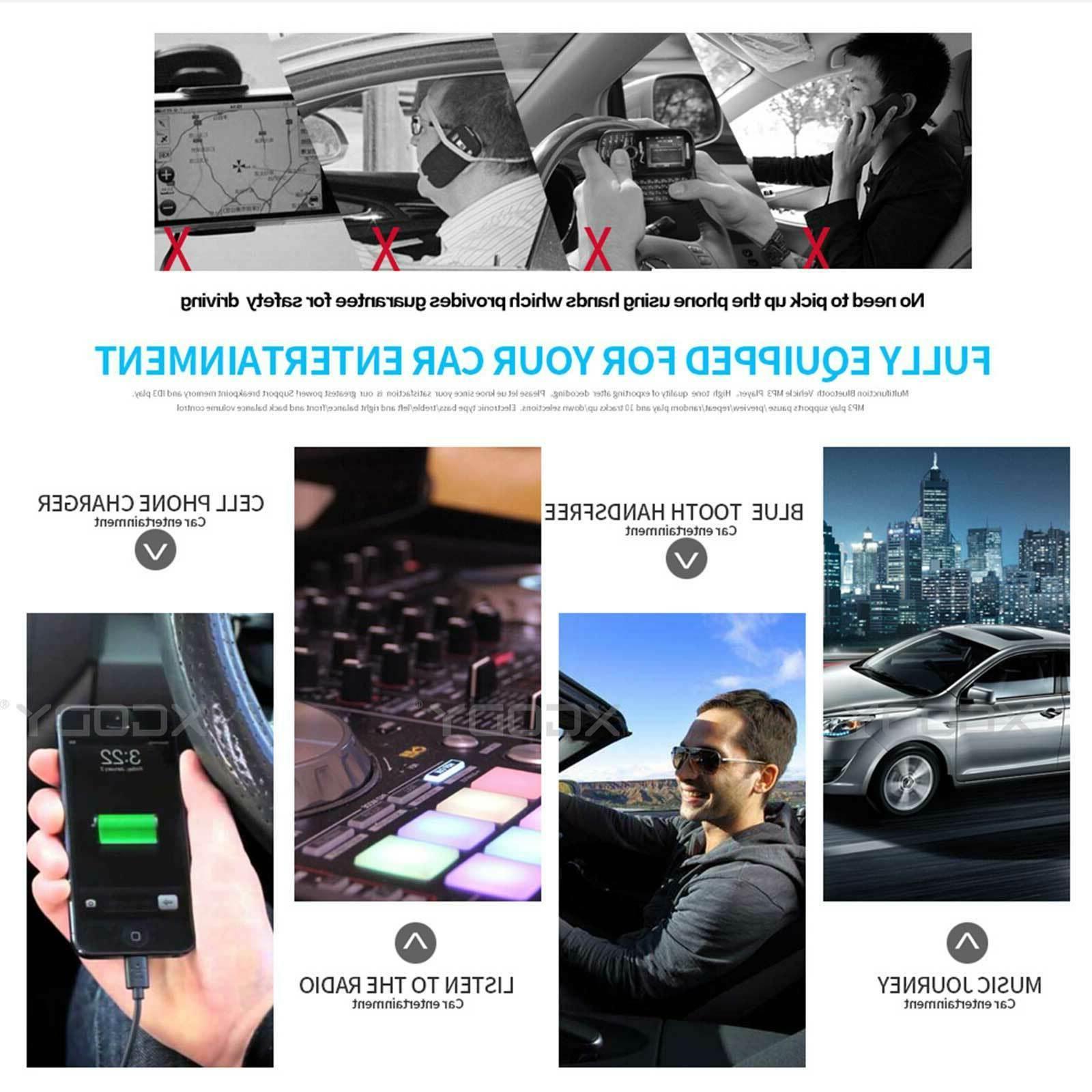 Single Stereo Radio In-dash Video Player USB AUX Bluetooth AM FM