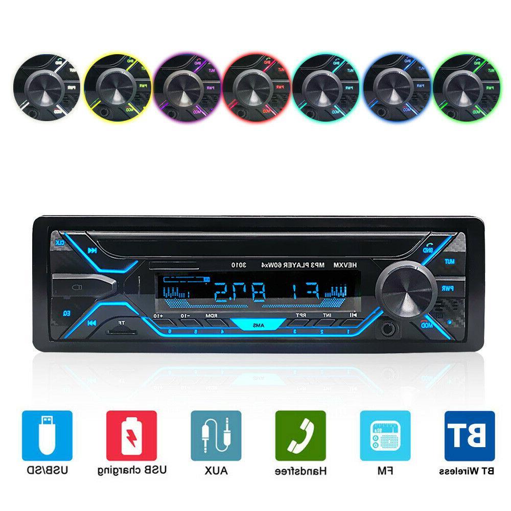 single din car stereo radio in dash