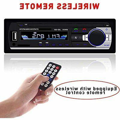 Single Din Car Stereo Reveiver FM MP3 Player Wireless