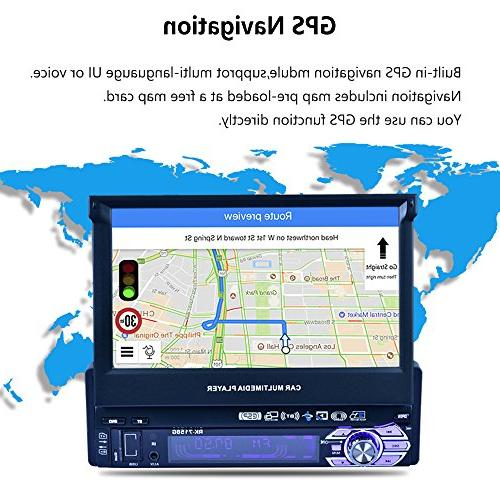 7-inch Single GPS with Offline GPS Out Touch Car Stereo