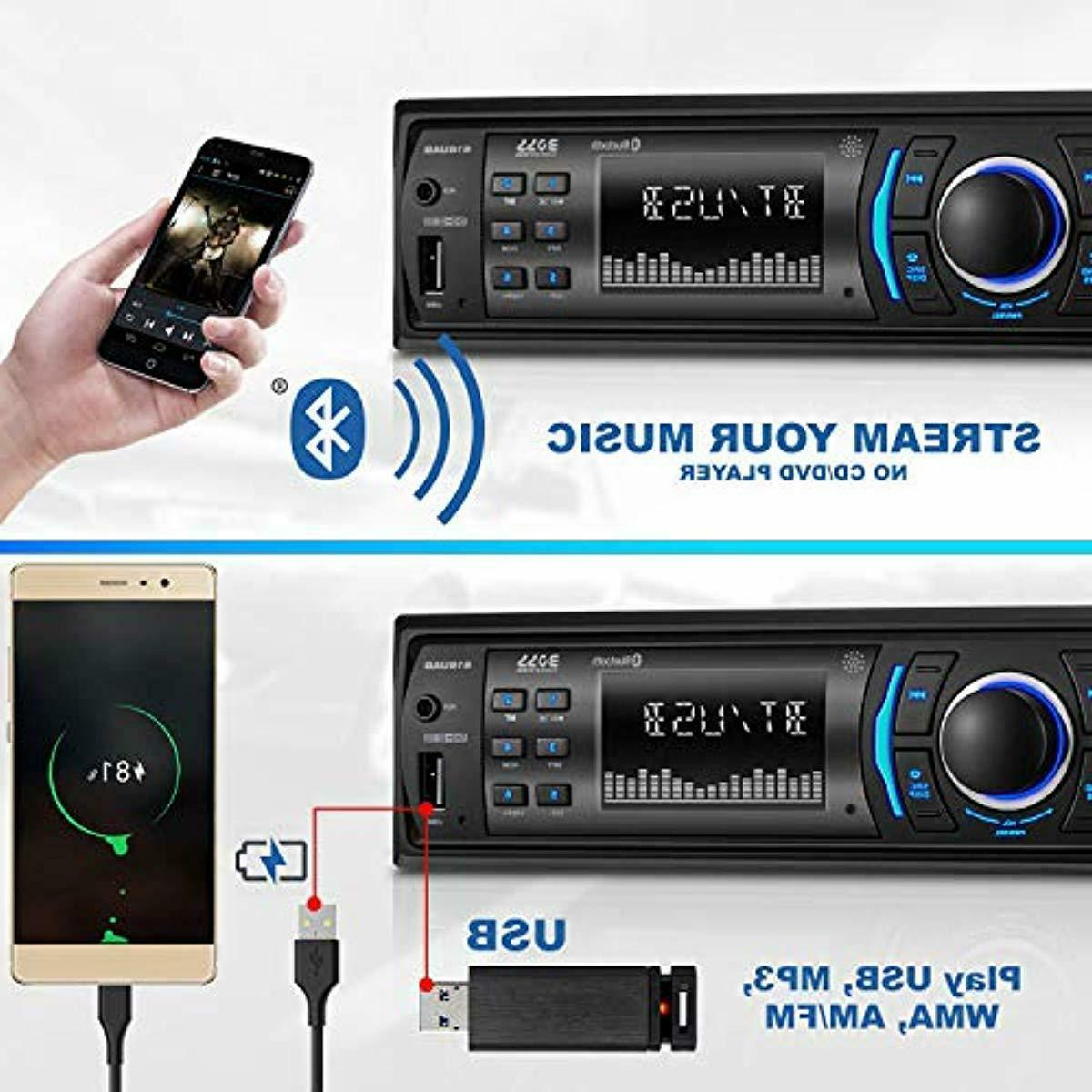BOSS Multimedia Stereo Single Din LCD Bluetooth Audio