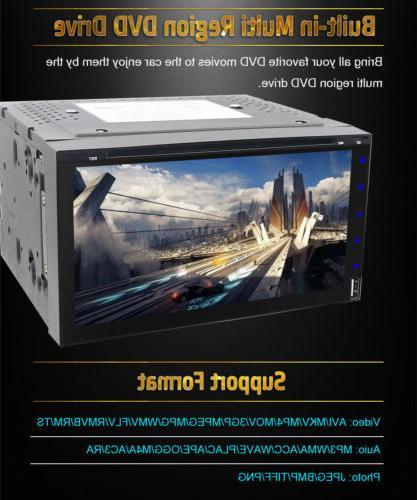 Sony lens Double Din DVD Bluetooth CD+CAMERA