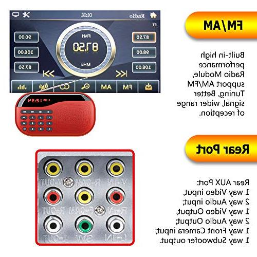 """LSLYA 6.95"""" Double Steering Control Stereo Car Bluetooth Player Entertainment FM Aux Input TV HD Rear View Camera"""