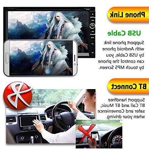 "LSLYA 6.95"" Double Steering Stereo DVD Bluetooth Radio Entertainment Aux TV"