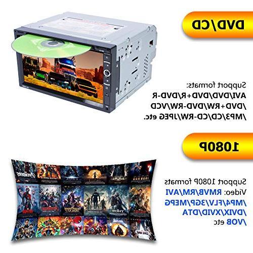 "LSLYA 6.95"" Steering Control Car Stereo DVD Car Radio Bluetooth Radio Entertainment USB/TF Aux"