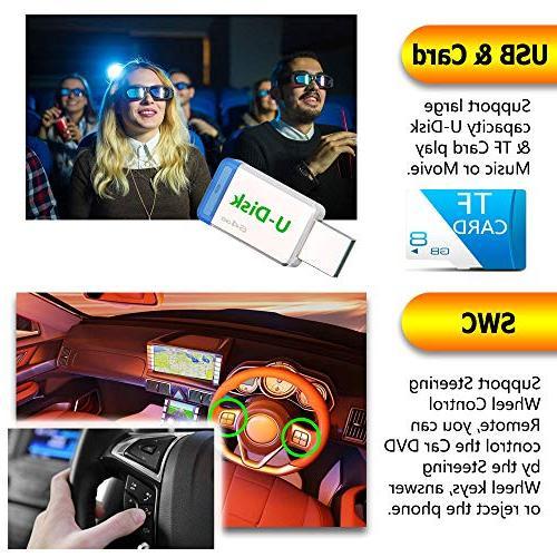 LSLYA Steering Wheel Control Stereo DVD Car Radio Bluetooth Player Multimedia Entertainment USB/TF Aux Input TV with HD Rear