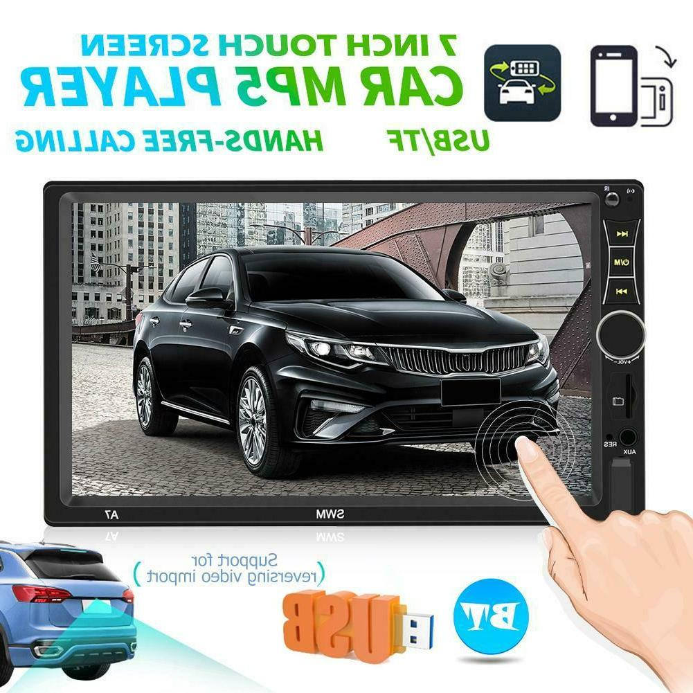 """SWM A7 2 DIN Car Stereo MP5 Player 7"""" Touch Screen Bluetooth"""