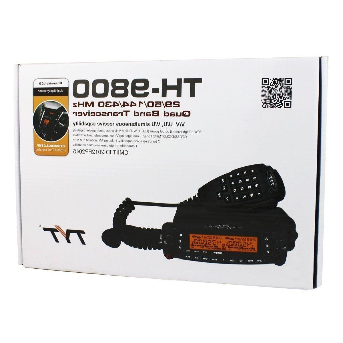 TYT TH-9800 plus 29/50/144/430 MHZ QUAD BAND TRANSCEIVER