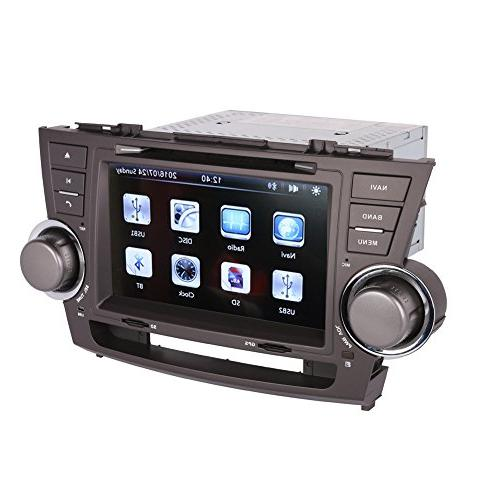 8 Inch Touch Screen Car GPS Navigation TOYOTA HIGHLANDER 2008-2013 Stereo DVD Video Radio Audio Bluetooth Control IN+Free View Camera+Free of