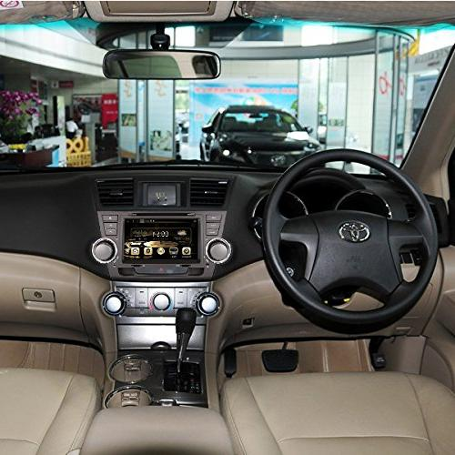 8 Inch Car Navigation TOYOTA HIGHLANDER 2008-2013 DVD Player Control IN+Free Rear View of USA