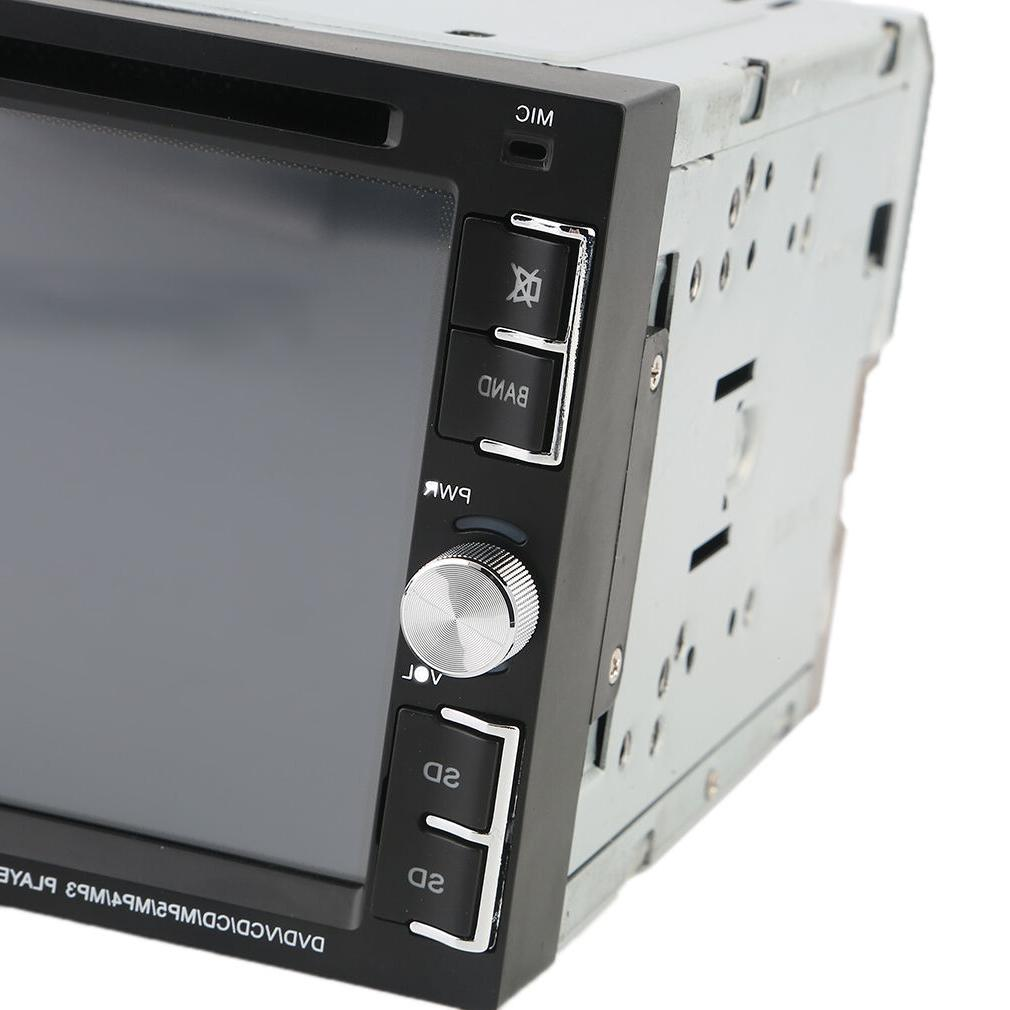 """Bluetooth Stereo CD Player 6.2"""" 2Din In-Dash HD"""