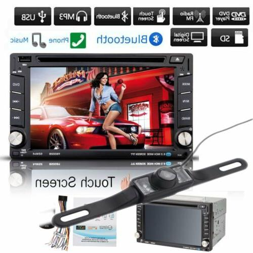 HD Touch Screen Double 2DIN Car GPS CD DVD Player Bluetooth
