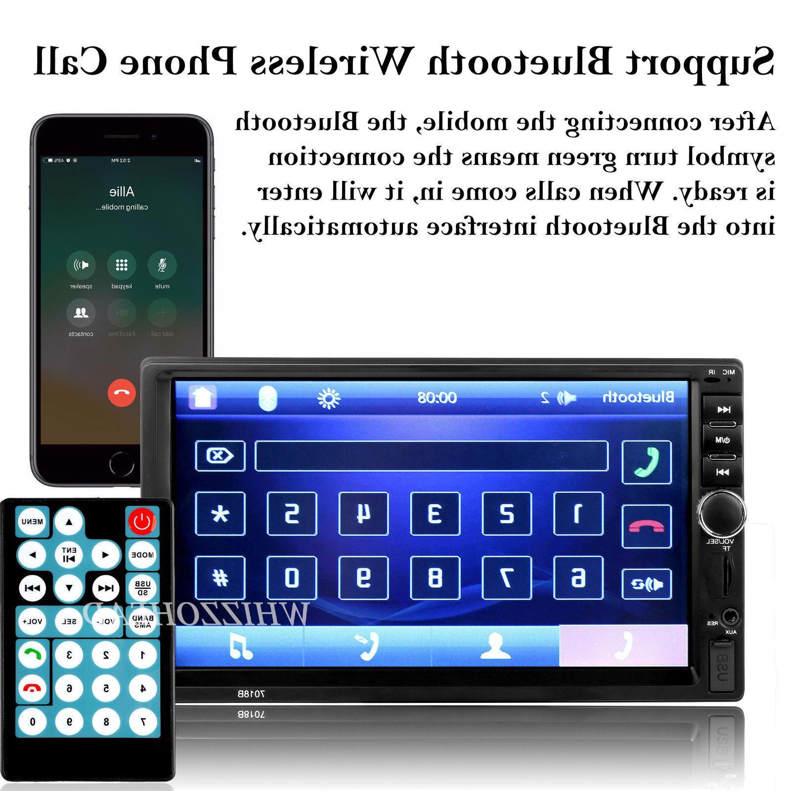 Bluetooth FM Radio Car MP5 Free Rear