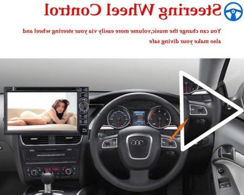 Car Stereo Double 2Din DVD Player Camera Nav