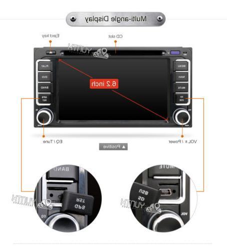Universal GPS Player Toyota RAV4 Prado+