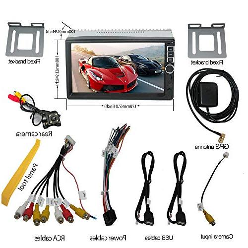 Upgraded 7 Inch Screen Android CPU Double Stereo in GPS Navigation Bluetooth WiFi Car Headunit Camera and Tools