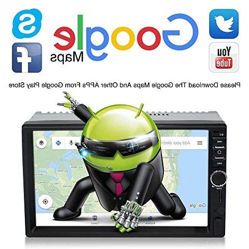 Upgraded Screen 7.1 CPU Din Car Stereo Navigation Surport Car Radio Audio Vehicle Headunit Rear Camera Car Tools