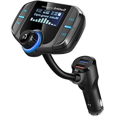 Upgraded Version Car Bluetooth FM Transmitter, Wireless Radi