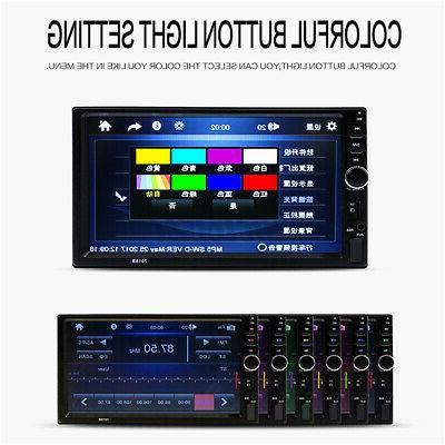 US 2DIN Car Radio bluetooth HD MP5 FM+8 LED Camera
