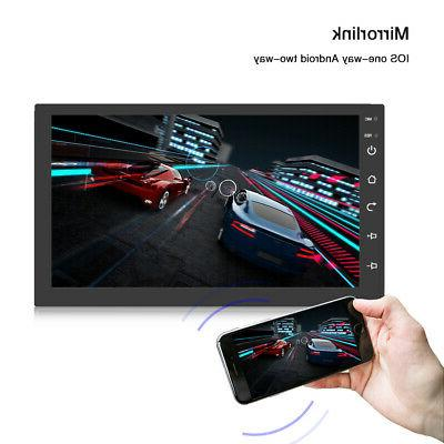 Android8.1 Car Stereo GPS Navigation Player HD Bluetooth inch
