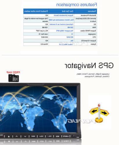 "US Car 7"" 2DIN Car Bluetooth Head Player Touch+Camera"
