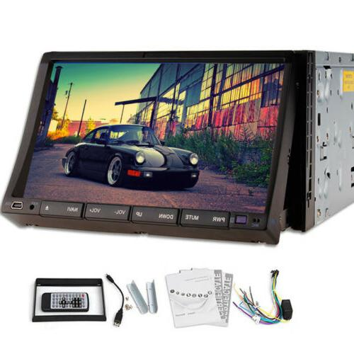 US Car DVD 2DIN Stereo Radio Bluetooth Head MP5 Player Touch+Camera