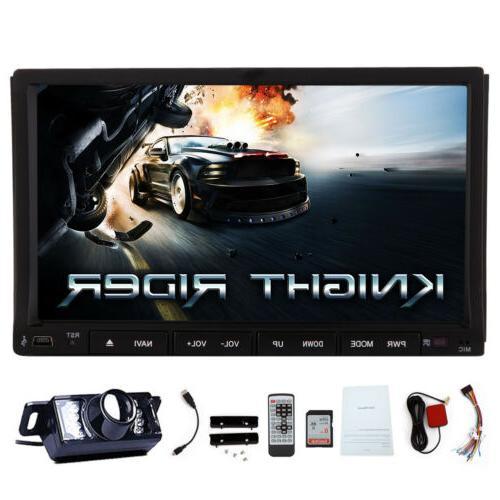 "US Car DVD 7"" 2DIN Car Stereo Bluetooth Player"
