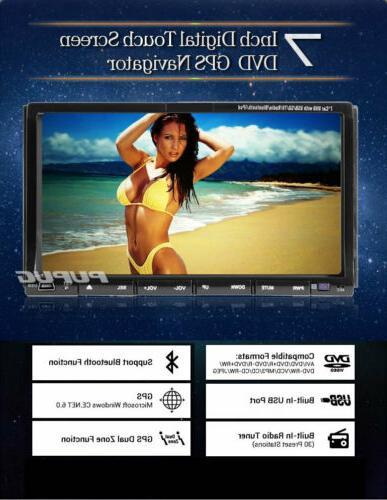 US Car DVD 2DIN Car Bluetooth Head Unit Player Touch+Camera