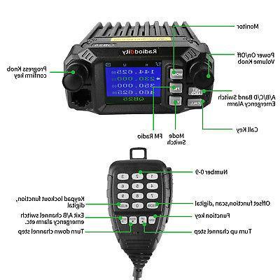 Radioddity Pro Mobile Transceiver VHF/UHF Quad 25W,