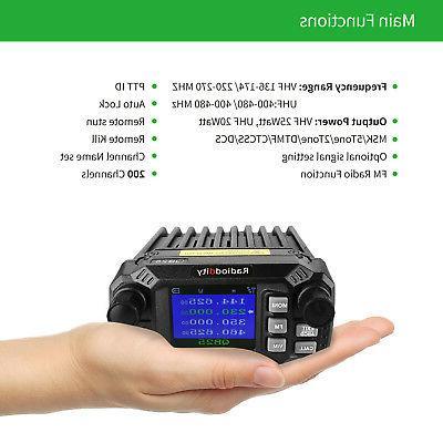 Mobile Radio Transceiver VHF/UHF Quad 25W,
