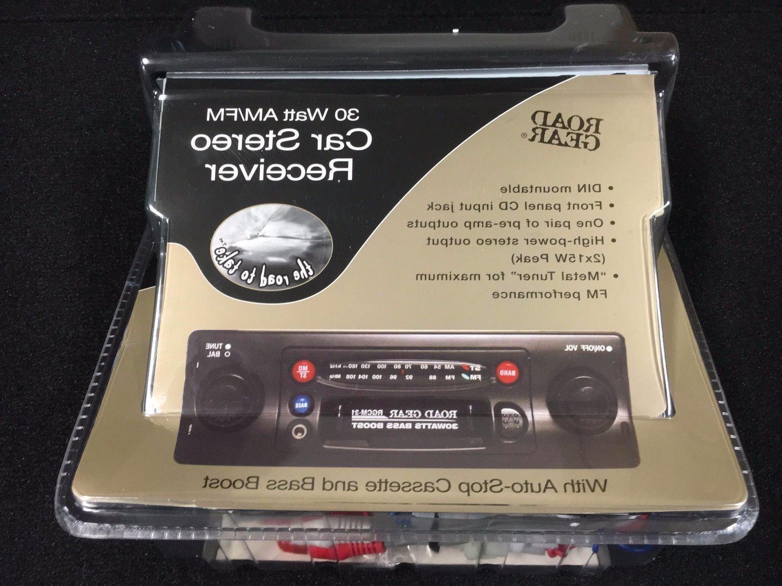 Vintage High Power AM/FM Cassette Car Stereo W/Front Panel A