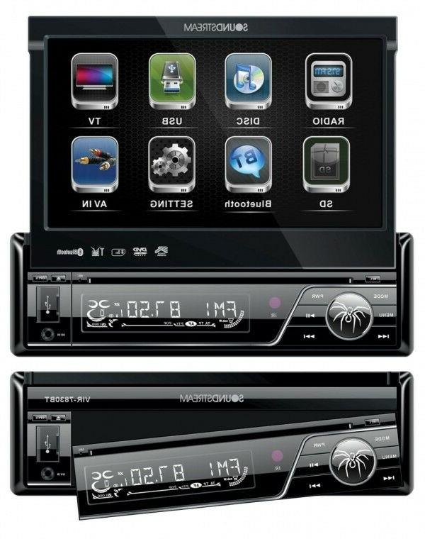New Soundstream VIR-7830B 1 DIN DVD/CD/MP3 Player Flip-Out U