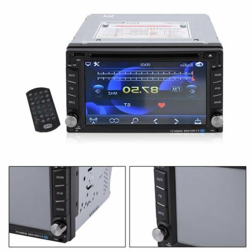 "6.2"" Car Stereo DVD Player GPS Navigation+Free Rear"