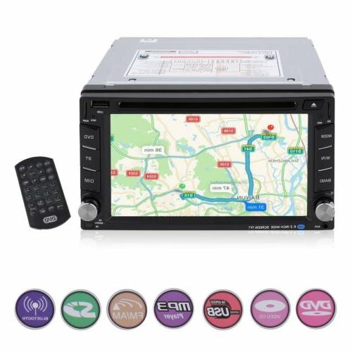 "6.2"" 2 DIN Car Radio DVD Player Navigation+Free"