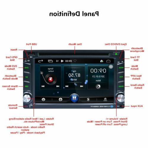 "6.2"" 2 DIN Car Radio Stereo HD DVD GPS Navigation+Free Rear Cam US"
