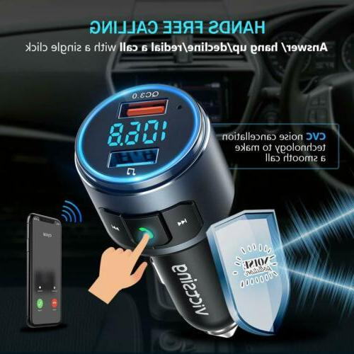 VicTsing Wireless FM Transmitter AUX Car Kits