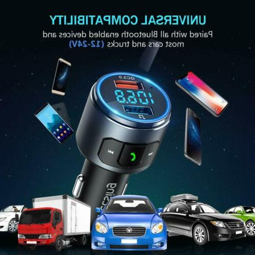 VicTsing Wireless Bluetooth FM Transmitter AUX Kits