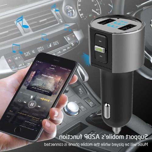 MPOW Wireless Bluetooth FM Transmitter Adapter New