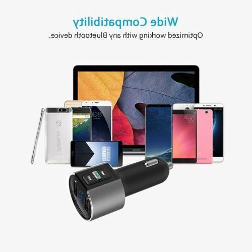 MPOW Wireless In-Car Bluetooth FM AUX Adapter New