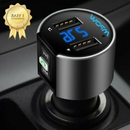 wireless in car bluetooth fm transmitter aux