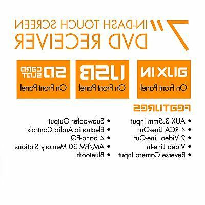 "X358 Car DVD Player - 7"" Touchscreen LCD"