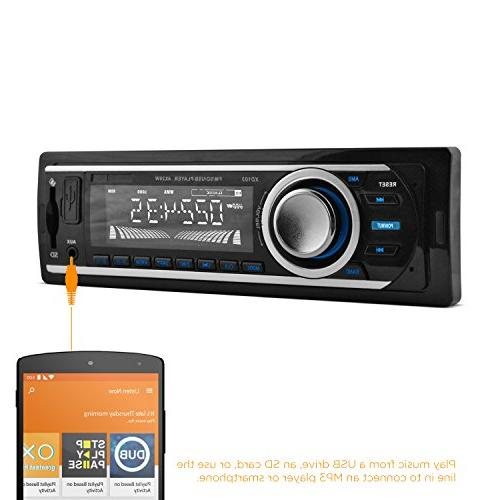 XO MP3 Car Stereo Receiver with Bluetooth, USB and Card